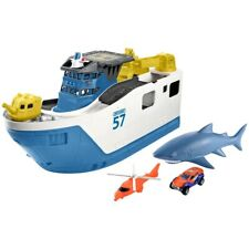 MATCHBOX SHARK SHIP WITH TWO WATER-SAFE CARS *DISTRESSED PKG