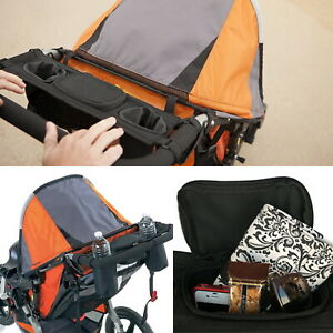 Pram Organizer Bag Baby Stroller with Cup Holder for Pushchair Stroller Jogger
