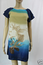 **NOW** EUC Tropical Shift Multi Printed Dip Dye Dress 10 S Ruffled Chiffon
