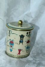 Tin Can Biscuit Barrel Baret Ware Art Grace England Tin FREE SHIPPING