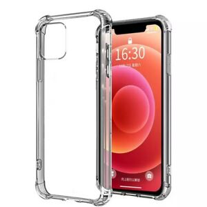 Shockproof Phone Case for iPhone 12 11 Pro Max Xs X, Transparent Silicone Case F
