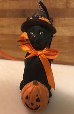 Bethany Lowe Halloween Black Cat Ornament