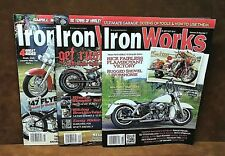 Lot of (3) IRON WORKS Motorcycle Magazines ~ 2012 & 2013 ~ FREE SHIPPING