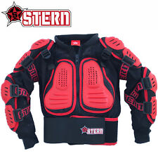 KIDS STERN MOTOCROSS BODY ARMOUR PROTECTION RED bionic suit jacket quad bike