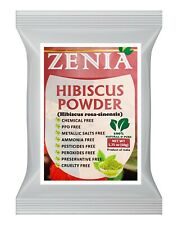 100g (3.5oz) Zenia Pure Natural Hibiscus Flower Powder 100% Raw from India