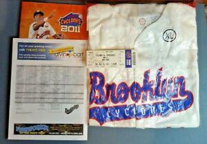 2011 Brooklyn Cyclones Promo Jersey XL MINT in Package w Program&Ticket&Roster