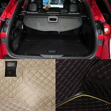 PU Leather Rear Trunk Cargo Liner Protector Mat Seat Back Pad For Jeep Cherokee