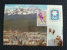 FRANCE MK 1968 OLYMPIA WINTER OLYMPICS MAXIMUMKARTE CARTE MAXIMUM CARD MC c1447