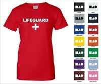 Lifeguard With Cross First Aid Swimming Pool Beach Rescue Funny Woman's T-shirt