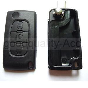 Light Symbol 3 button KEY FOB REMOTE CASE Key For Citroen C2 C3 C4 C5 C6