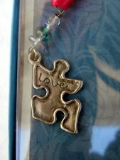 Made-in-the-USA Autism Awareness Pewter Puzzle Piece Bookmark by Cynthia Webb