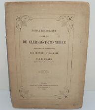 Egger : Notice Historique sur le duc de Clermont-Tonnerre, 1866