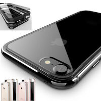 Shockproof Luxury Clear Hard Back Metallic Bumper Case Cover for iPhone 7/8 Plus
