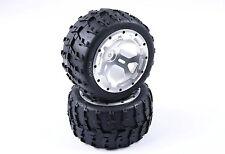 Tyre Wheel Set Silver CNC Metal Wheel Rim Ring for 1/5 FG Big Monster