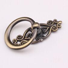 Vintage Antique Bronze Cabinet Knob Drawer Door Cupboard Drop Ring Pull Handle