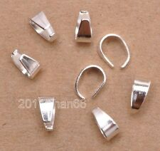50pcs 100pcs Silver Gold Plated Pinch Clip Connectors Bails Jewelry Findings 8mm