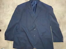 Cotton Blend Patternless Three Button Suits for Men