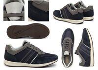 Scarpe da uomo Geox Avery sneakers casual basse vera pelle da passeggio estive