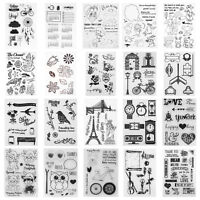 Transparent Silicone Clear Stamps DIY Scrapbooking Photo Album Card Decor Stamp