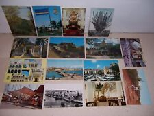 1930s-1980s CURACAO VINTAGE POSTCARD LOT of 15 DIFF.