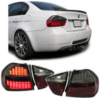 SMOKED REPLACEMENT LED REAR TAIL LIGHTS FOR BMW E90 3 SERIES 12/04-08 SALOON V3