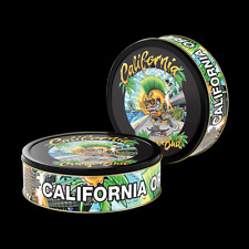 California Orange Bud 3.5g press it in cali Tins preapplied labels