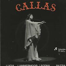 """MARIA CALLAS """" LUCIA di LAMMERMOOR / SCENA DELLA PIAZZA"""" 7"""" ITALY SEBQ 224"""