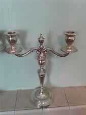 Paire De Argent Massif antique candelabra