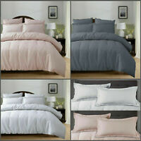 Modern 100% Cotton Bedding Waffle Duvet Set With Quilt Cover & Pillow Cases