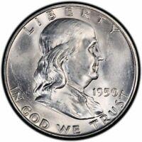 1950 Franklin Half Dollar Brilliant Uncirculated- BU