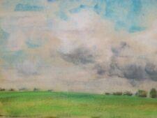 Franz Ehmke 1928 -2018 Pastello Schönfließ Paesaggio Primavera Prato DDR Pittore