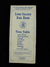 Long Island Railroad RR Public Timetable 1962 New York Brooklyn West Hempstead