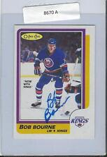 Bob Bourne 1986 OPC Autograph #14 Islanders