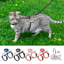 Escape Proof Cat Strap Harness Leash & Personalized Tags Adjustable for Kitten