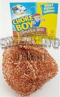 3 Chore Boy Copper Scrubber Scouring Pad 100% Pure Copper ✓ | New Steel Wool |🔥