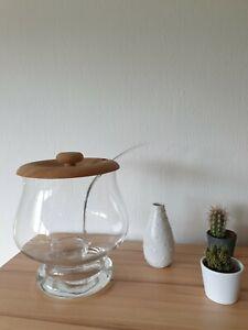 Hochwertiges Bowle Gefäß einschließlich Schöpfer aus Glas