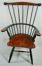 """Nice 15"""" Miniature Doll Size Windsor Wooden Colonial Style Chair with Comb Back"""