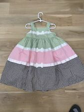 Girl's Spring/ Summer Sleeveless Dress Size 5 NEW w/ TAG.  Gingham Adorable