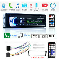 Single 1 Din Car MP3 MP5 Player Stereo Radio FM Bluetooth AUX IN TF In-Dash USB