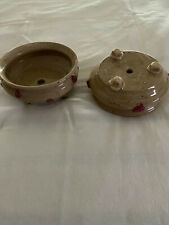 2 round Planters with drainage, Made by Hawaii Artisan