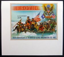 More details for lesotho 1982 george washington ms499 imperf ex archive nl523