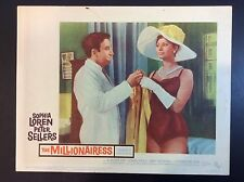 "SOPHIA LOREN 11"" x 14""  ""The MILLIONAIRESS"" 1960 MOVIE THEATER LOBBY CARD PROMO"
