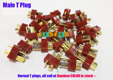 100Pcs/Lot Normal Male Dean Connector T plug For Charger Battery ESC Copter Car