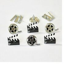 Brads - Movie reels and clapper boards - pk 4 - scrapbooking