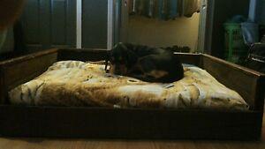 Handmade Rustic Wooden Dog Beds