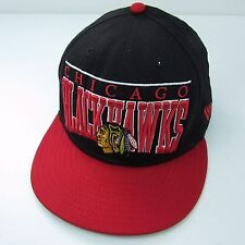Chicago Blackhawks Embroidered Big Script New Era Fits Snapback Hat NHL Ball Cap