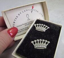 Georgetown, DE Lancaster pewter earrings. Queen's Crown