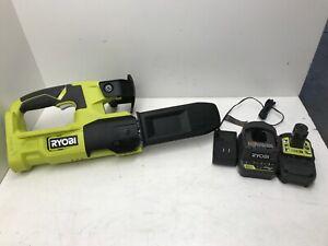 "Ryobi P5452 One+ 8"" 18 Volt 18V Lithium-Ion Battery Pruning Chainsaw KIT GR"