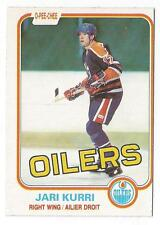 1981-82 O-Pee-Chee OPC JARI KURRI # 107 - Rookie card  Edmonton Oilers