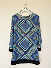 M&Co long sleeved bold print top, zip back, UK size 12,